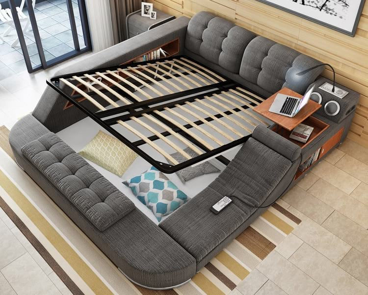 Универсальная супер-кровать, на которой можно жить!
